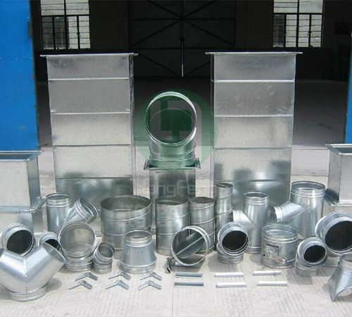 Total of flange plate duct