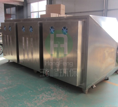 Light oxygen catalytic waste gas purifying equipment
